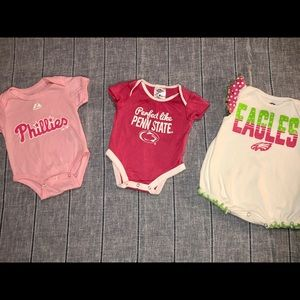 Penn State, Eagles, Phillies 0-3 months Baby Girl